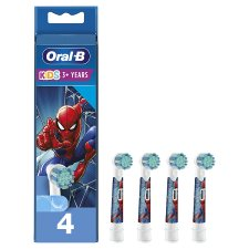 Oral-B Kids 3+Yr Spiderman Electric Replacement Heads 4 Pack