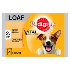 Pedigree Loaf Dog Food Pouches 4 Pack