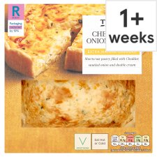 Tesco Cheese And Onion Quiche 400G