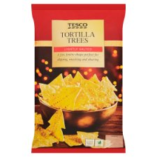 Tesco Lightly Slted Tortilla Christmas Trees 200G