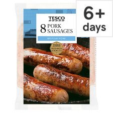 image 1 of Tesco British Pork Sausages 8 Pack 454G
