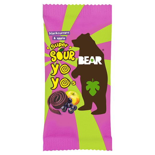Bear Yoyo Sours Blackcurrant And Apple Dried Fruit 20G