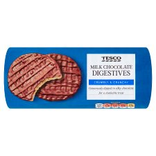 Tesco Milk Chocolate Digestive Biscuits 300G