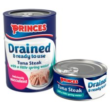 image 2 of Princes Drained Tuna Steak In Spring Water 3X110g