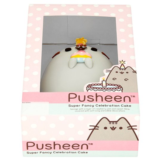 Pusheen The Cat Celebration Cake Tesco Groceries