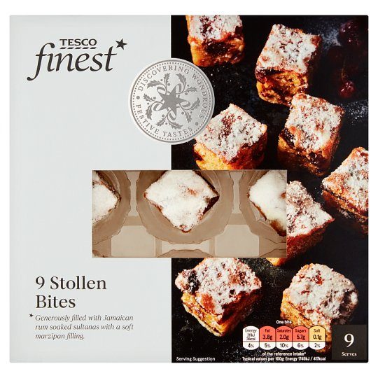 Tesco Finest Stollen Bites 9 Pack