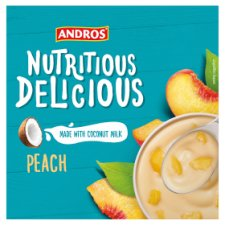 Andros Nutritiou Delicious Peach Yogurt Alternative 4X100g