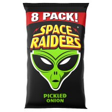 Space Raiders Pickled Onion Flavoured Snacks 8X11.8G