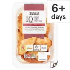 Tesco 10 Minced Beef Pasties 300G