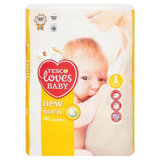 Tesco Loves Baby Newborn Size 1 Economy Pack 50