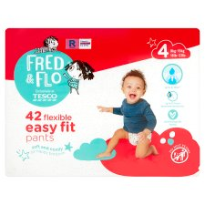 Fred And Flo Easy Fit Pants Size 4 42Pk