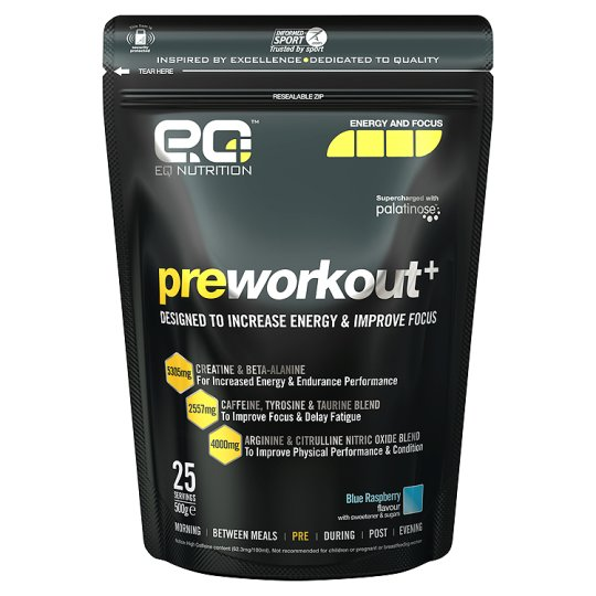 Eq Nutrition Preworkout+ Blue Raspberry 500G