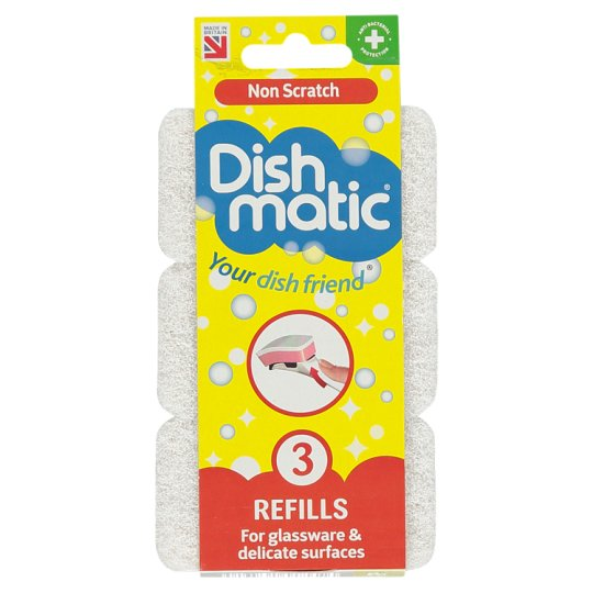 Dishmatic Non Scratch Refills 3 Pack