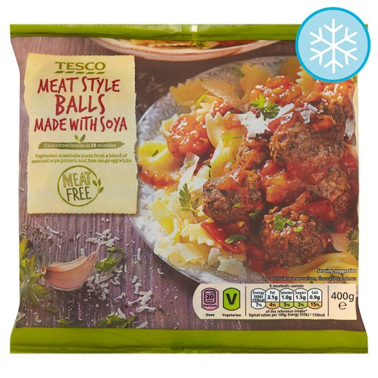 Tesco Meat Free Meat Style Balls 400G