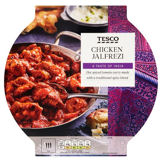 Tesco Indian Chicken Jalfrezi 460G