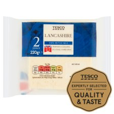 Tesco Lancashire Cheese 220G