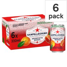 San Pellegrino Aranciata Rossa 6 Pack Can 330Ml