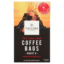 Taylors 10 Hot Lava Java Coffee Bags 75G