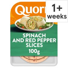 Quorn Spinach And Red Pepper Slices 100G