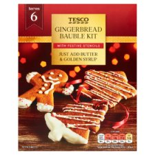 Tesco Gingerbread Bauble Kit 260G