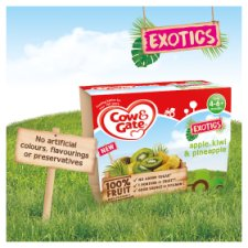 image 3 of Cow & Gate Fruit Cups Apple, Kiwi And Pineapple 4X100g