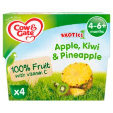 image 1 of Cow & Gate Fruit Cups Apple, Kiwi And Pineapple 4X100g