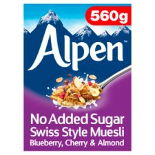 Alpen No Added Sugar Blueberry Cherry And Almond Muesli 560G