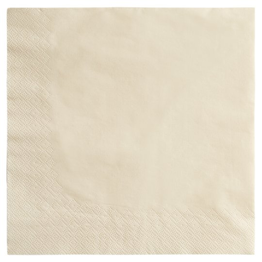 Tesco Cream Napkins 40 Cm 50 Pack
