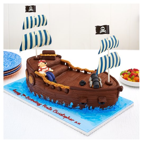 Tesco Groceries Cake Decorations : Easy Entertaining Captain Jack Pirate Ship Chocolate Cake ...