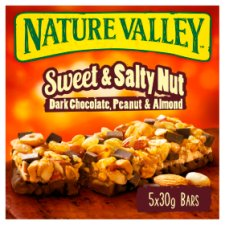Nature Valley Sweet And Salty Nut Dark Chocolate Bar 5X30g