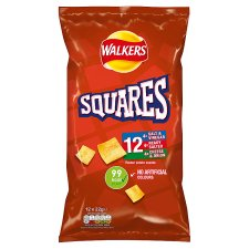 Walkers Squares Variety Snacks 12 X 22 G