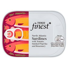 Tesco Finest Sardines In Paprika And Tomato Sauce 105G