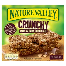 Nature Valley Crunchy Granola Oats And Chocolate Bars 5X42g