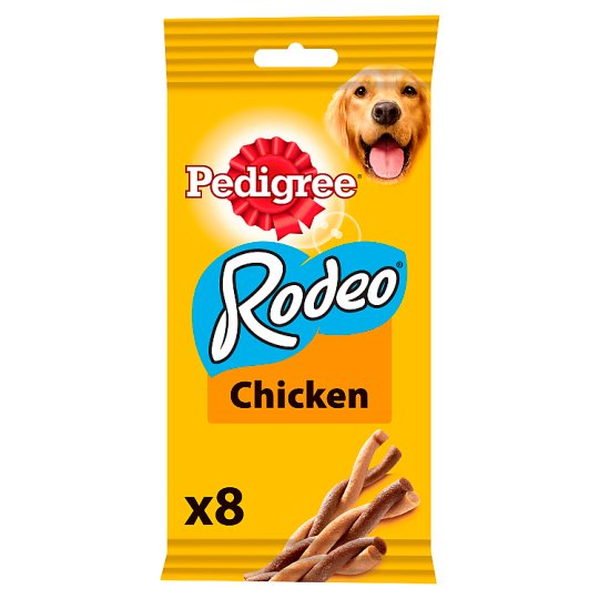 Pedigree Rodeo Chicken Dog Treats 8 Pack, 140G