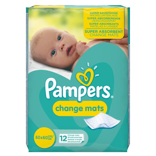 Pampers Change Mats 12 Pack