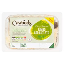 Cawoods Jumbo Salted Cod Cutlets 350G
