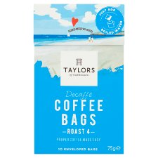 Taylors Decaffe Coffee Bags 10 Pack 75G