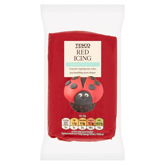 Tesco Ready To Roll Coloured Icing Red 250G