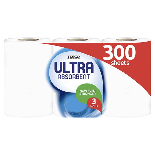 Tesco Kitchen Towel Ultra Absorbent White 6 Roll