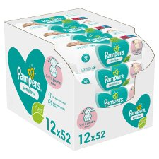 Pampers Sensitive Fragrance Free Multi Pack 624S 12 Pack