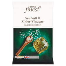 Tesco Finest Sea Salt And Cider Vinegar Crisps 150 G