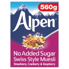 Alpen No Added Sugar Red Berries Muesli 560G