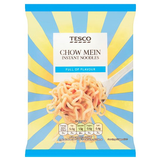 Tesco Instant Noodles Chow Mein Flavoured 85G