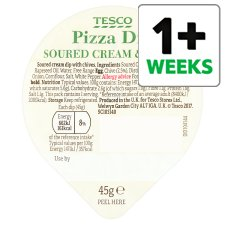 Tesco Pizza Dip Sour Cream And Chive 45G