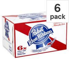 Pabst Blue Ribbon Lager 6 X 330Ml