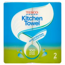 Tesco Kitchen Towel White 2 Roll