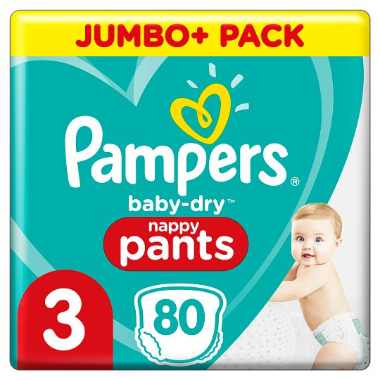 image 1 of Pampers Baby Dry Size 3 Jumbo Plus Pack Nappy Pants 80