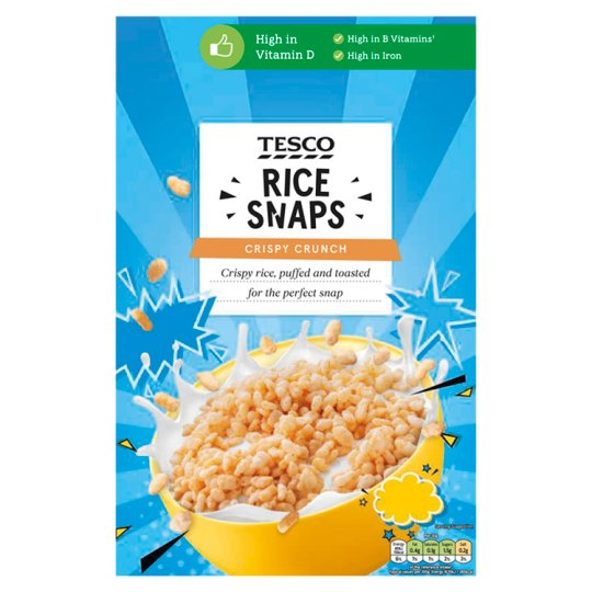 Tesco Rice Snaps Cereal 375G