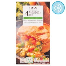 Tesco 4 Cheese And Vegetable Pies 568G