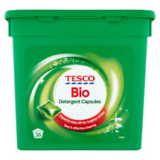 Tesco Laundry Capsules Biological 36 Washes 882Ml